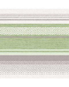 Mank stofligende serviet 40x40cm 50stk - Lagos grå/grøn