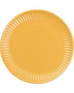 Mynte Tallerken Mustard - Ø19,5cm