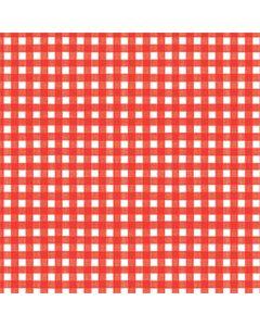 Papirdug 1,2x5 m - Pepita tern rød/hvid
