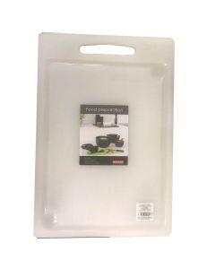 Skærebræt m/saftrille plast - 35x25cm