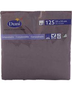 Duni serviet 33x33cm 3-lags 125stk - plum