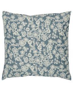 Pude 50x50cm Blomster - Blå