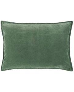 Pude 70x50cm Velour - Dusty Chalk Green