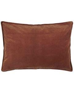 Pude 70x50cm Velour - Rust
