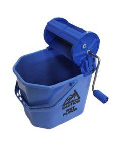 Rengøringsspand m/rullepresse - Blå