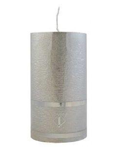 Rustik Bloklys 7x12,5 cm - sølv