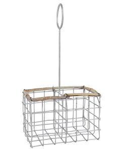 Salt & Peber holder Wire/Bambus