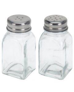 Salt & Pebersæt glas - Firkantet