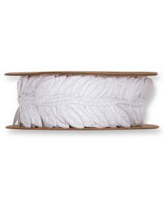 Satinbånd blade 5m - Hvid