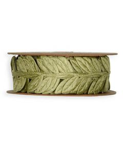Satinbånd blade 5m - Grøn