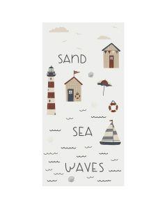 Ib Laursen middagsserviet 40x40 16stk - Sea Sand Waves