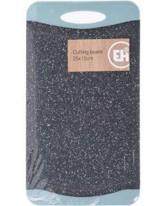 Skærebræt nylon granitlook - 25x15 cm