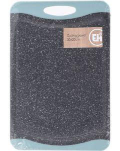 Skærebræt nylon granitlook - 30x20 cm