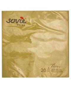 Sovie 33x33 3-lags 20stk serviet - Guld