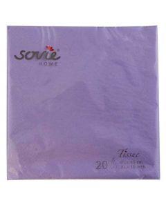 Sovie 40x40 3-lags 20stk serviet - Lilla