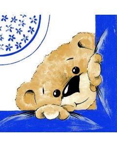 Sovie serviet 40x40 Teddy blå 12stk