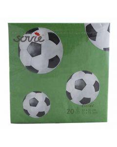 Sovie fodbold serviet 33x33 20 stk.
