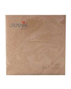Sovie 40x40 3-lags 20stk serviet - Kobber
