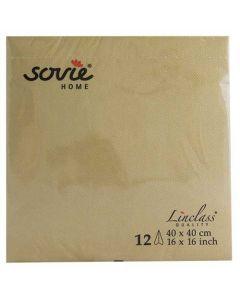 Sovie home tekstil serviet  - 40x40 cm - 12 stk guld