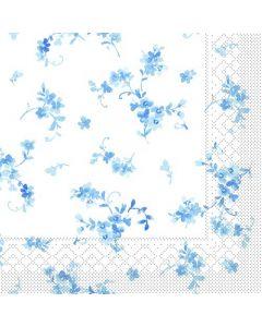 Sovie 33x33 3-lags 20stk serviet - Bonnie blå