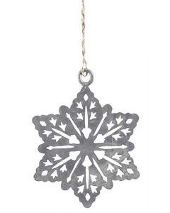 Stjerne juletræspynt zink 5x5cm