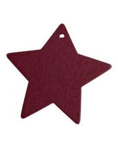 Stjerne i træ - Bordeaux