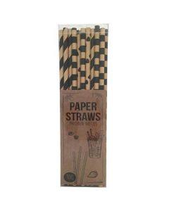 Papirsugerør - 100stk