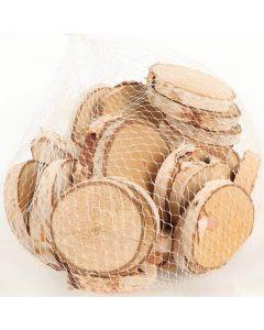Træskiver Birketræ 10stk
