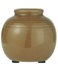 Vase m/riller - Lys Brun