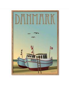 ViSSEVASSE Plakat - Danmark Fiskebåde