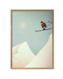 ViSSEVASSE Plakat - Ski