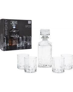 Whiskey sæt m/karaffel og 4 glas