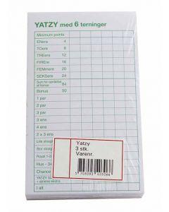Yatzy-blok - 3 blokke